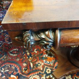Antique Victorian Mahogany Card Table, in excellent original condition, with some fine carvings.